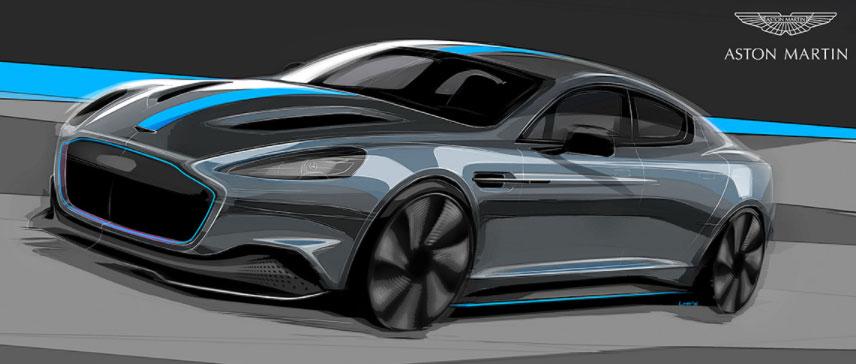 Aston Martin RapidE, lancement du véhicule 100% électrique prévu pour 2019