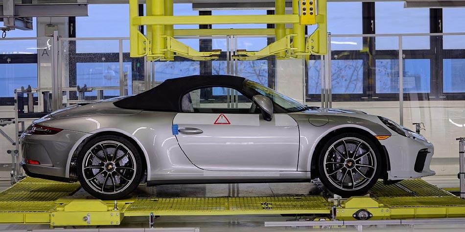 Le dernier modèle de la Porsche 911 vient d'être produit
