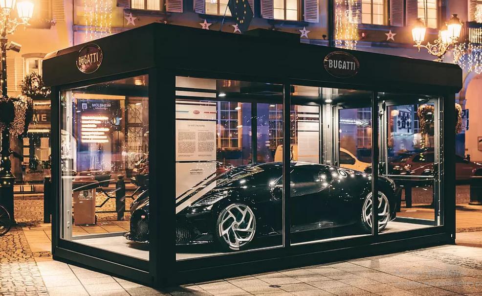Bugatti : la voiture noire exposée pour Noël à Molsheim
